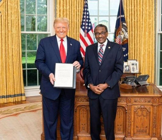 Trump Vowed to Remove Sudan from Terrorism List, Envoy Tells Asharq Al-Awsat