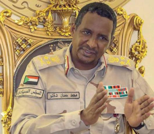 Hemedti to Asharq Al-Awsat: Normalizing Ties with Israel is a Gain for Sudan