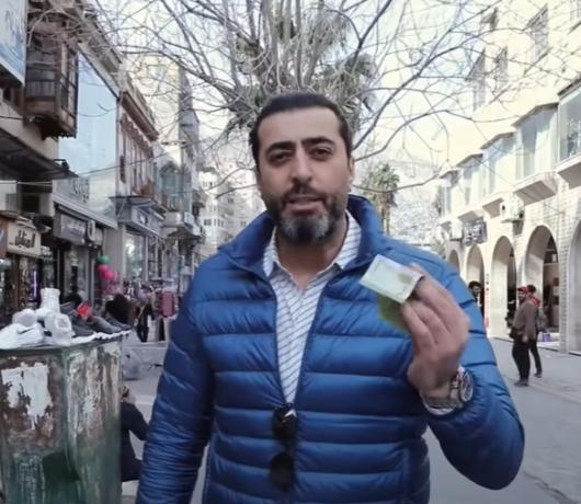 Syrian Actor Bassem Yakhour's Tour of Damascus Shows Extent of Currency Collapse