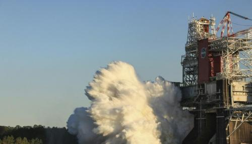 NASA Test of Mega Moon Rocket Engines Cut Short