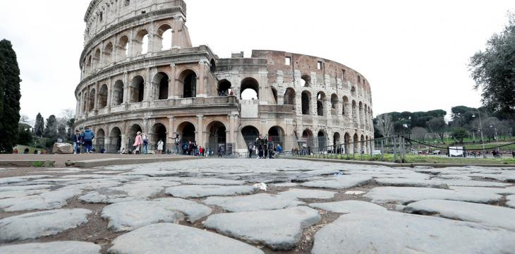 Rome's Colosseum Hosts Few Hundred Tourists After Reopening