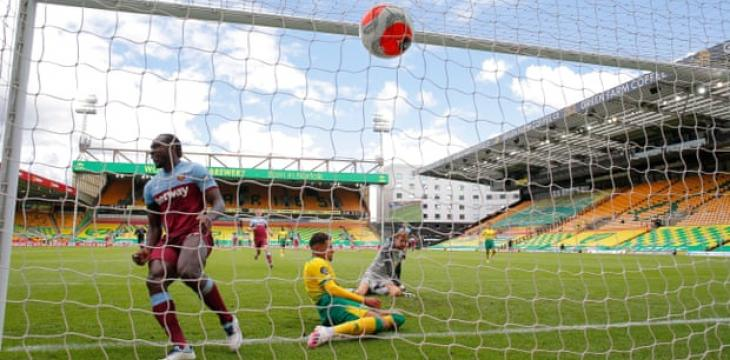 Norwich Relegated From Premier League as West Ham's Antonio Hits Four