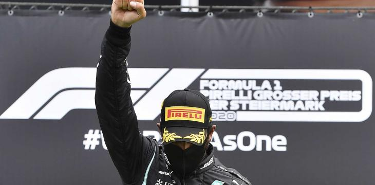 F1 Star Hamilton Raises Right Fist in Fight against Racism