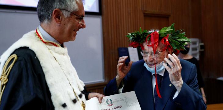 Italian Elderly Fulfills Dream, Earns University Degree