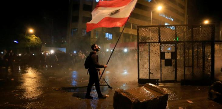 Police Scuffle with Protesters Angered by Beirut Blast