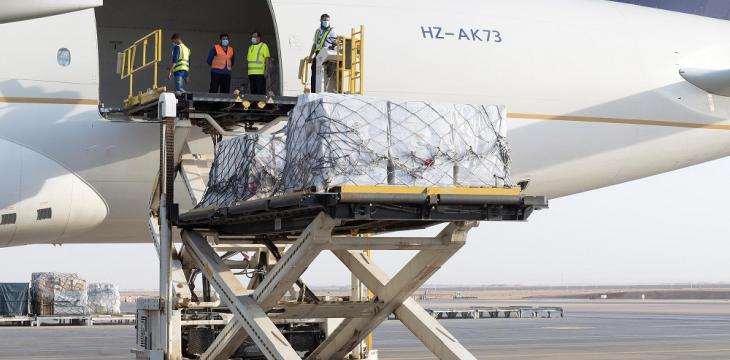 KSRelief Sends Third Plane to Beirut as Part of Relief Aid Bridge
