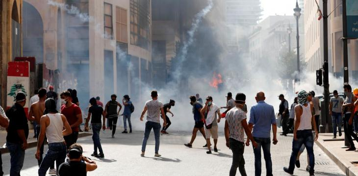 Lebanon: 2nd Day of Anti-Government Protests after Fury over Explosion