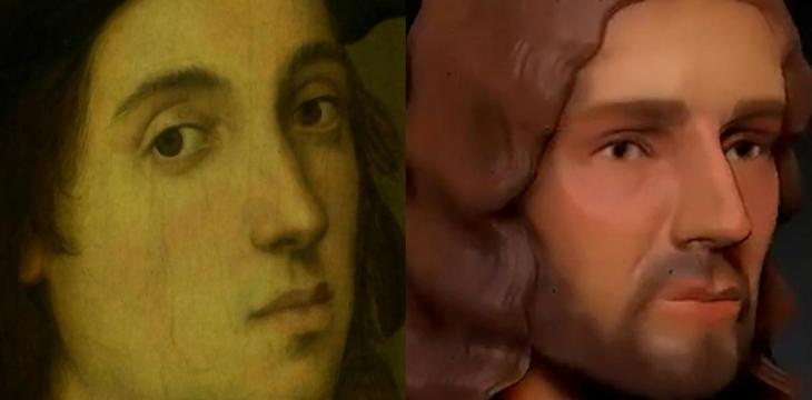 Renaissance Master Raphael Altered Nose in Self-Portrait