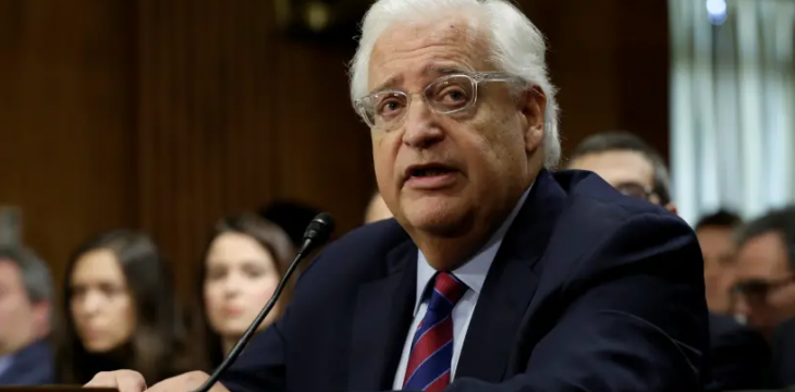Friedman's Talk About 'Next Leader' Sparks Palestinian Anger