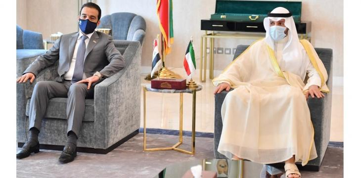 Iraq's Halbousi Holds Official Talks With His Kuwaiti Counterpart