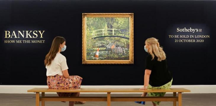 Banksy's Fly-Tipping Version of Monet's Garden Masterpiece to Go on Sale