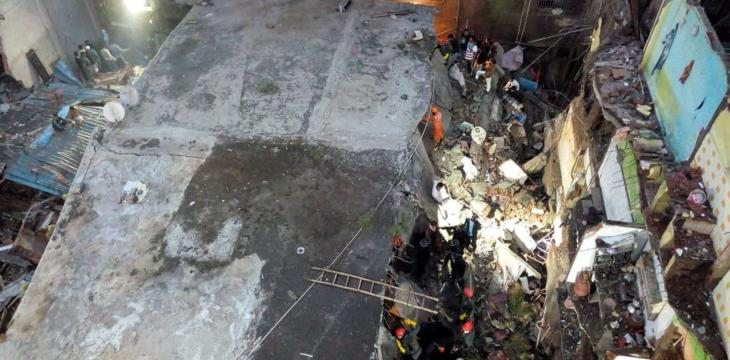 India: 10 Dead, Up to 25 Feared Trapped in Building Collapse