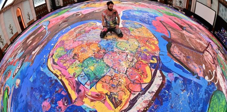 Gone in 60 Sections? UK Artist in UAE Hopes to Raise Millions with Giant Canvas