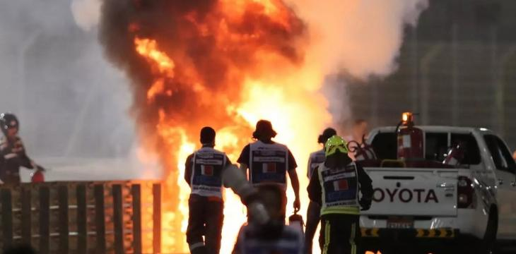 Grosjean out of Next F1 GP after Escaping Fiery Crash