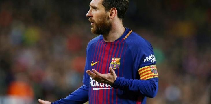Barca's Messi Given Two-Game Ban for Super Cup Red Card