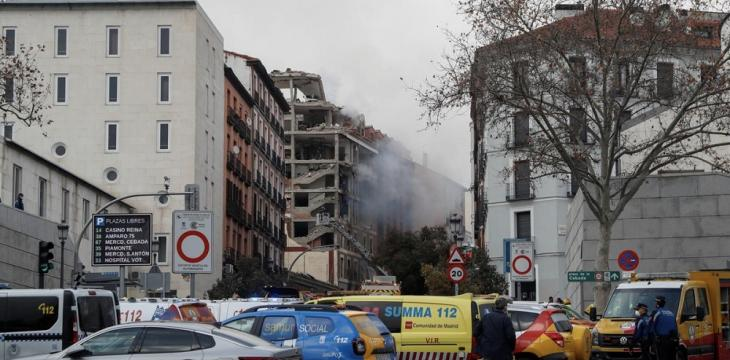 At Least 3 Dead after Blast Wrecks Building in Central Madrid