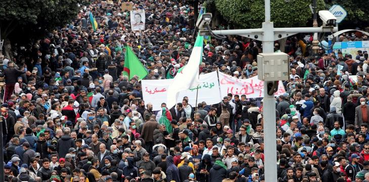 Algerian Protesters March for a Second Time this Week