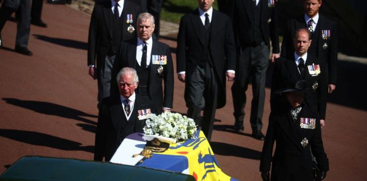 Queen Elizabeth Stands Alone as Philip is Laid to Rest