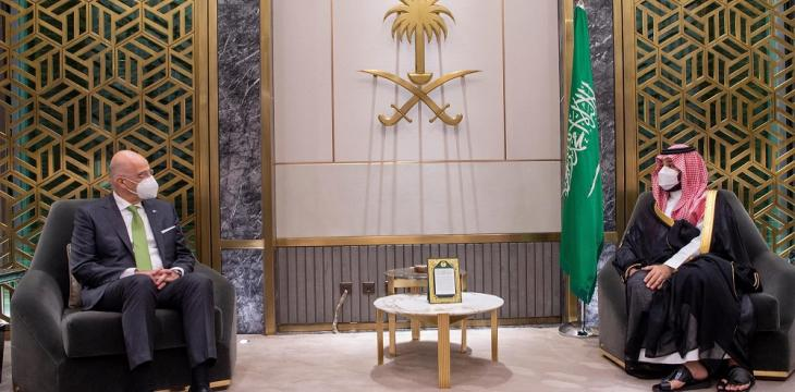 Saudi Crown Prince, Greek FM Hold Talks on Regional Developments