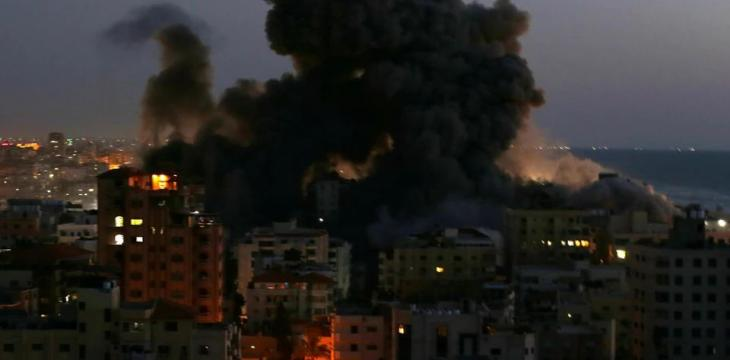 Gaza Block Collapses after Israeli Strike, Rocket Hits Tel Aviv Building