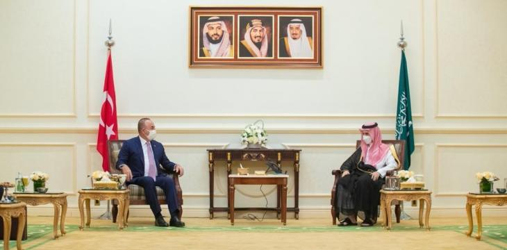 Saudi Foreign Minister Meets his Turkish Counterpart