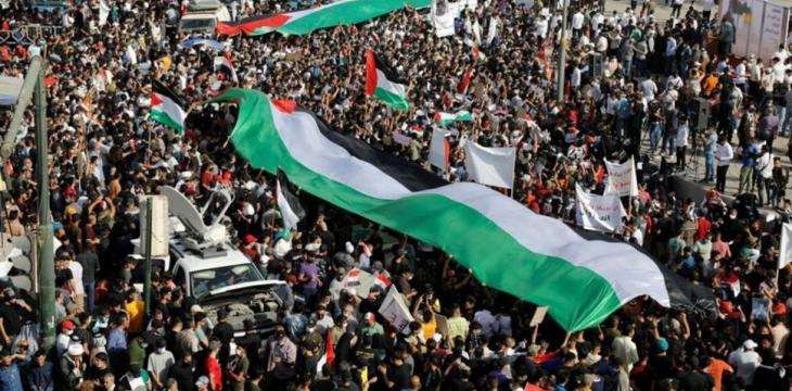 Iraqis Hold Anti-Israel Protests in Solidarity with Palestinians