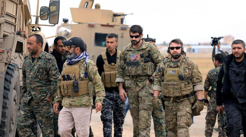 SDF and US troops in Hasakah Syria. Reuters