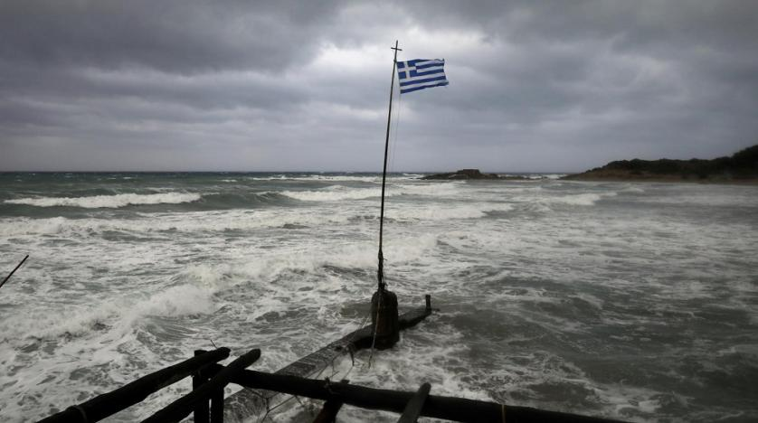 Devastating storm WASHES BEACH AWAY on Greek island of Kefalonia