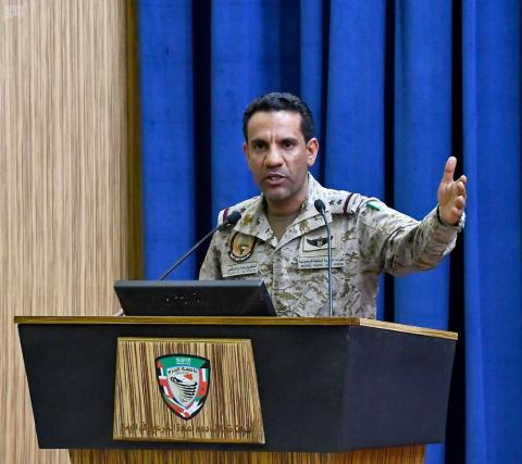 Arab Coalition Downs 4 Ballistic Missiles, 7 Drones Fired by Houthis against Saudi Arabia