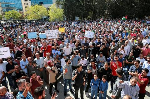 Muslim Brotherhood Accused of Mobilizing Jordan Teachers Union Rallies