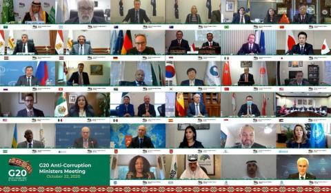G20 Anti-Corruption Ministerial Meeting, Saudi Support to UN Efforts