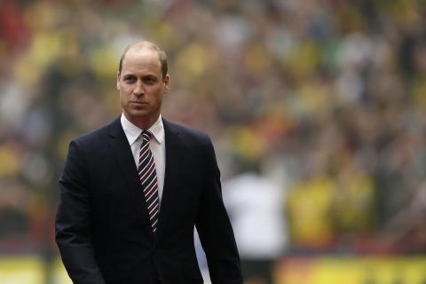Prince William Surprises Runners during Father's Day Race